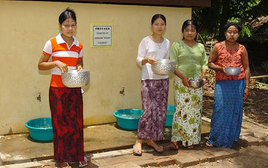 ミャンマーの井戸 井戸・水道施設など1,000基を超える命の泉